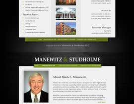 #58 cho Website Design for Manewitz & Studholme LLC bởi pradeepkc