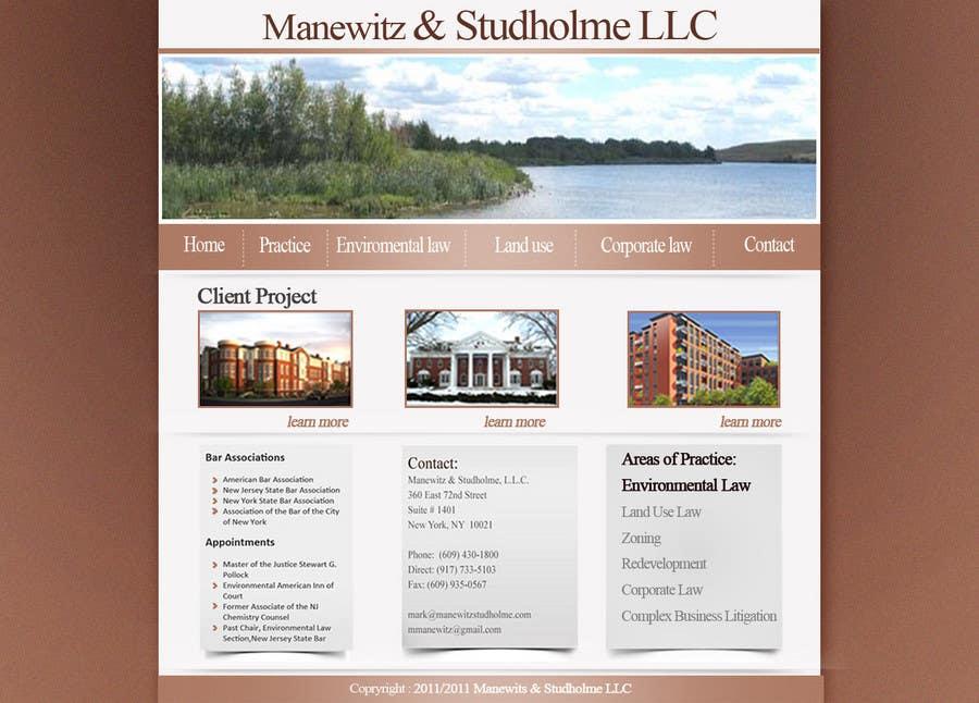 #74 for Website Design for Manewitz & Studholme LLC by madcganteng