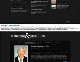 andrewnickell님에 의한 Website Design for Manewitz & Studholme LLC을(를) 위한 #61