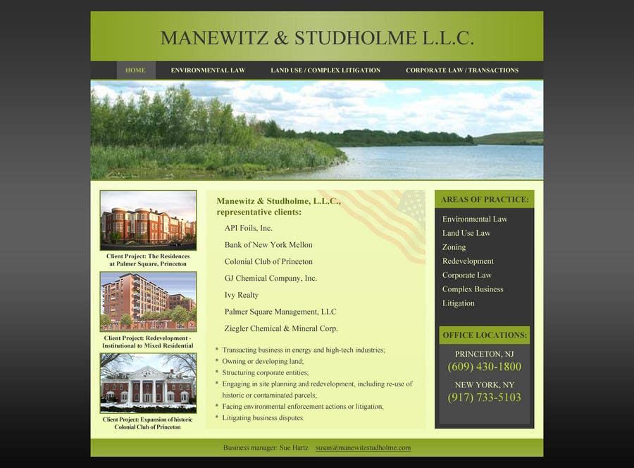 #117 for Website Design for Manewitz & Studholme LLC by MohammadNadeem91