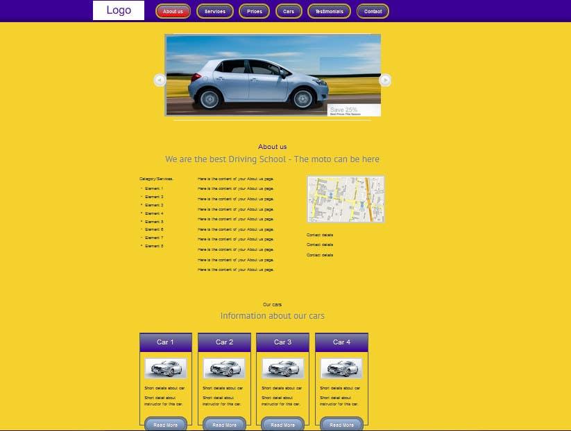 Bài tham dự cuộc thi #                                        2                                      cho                                         Webpage design for Driving School