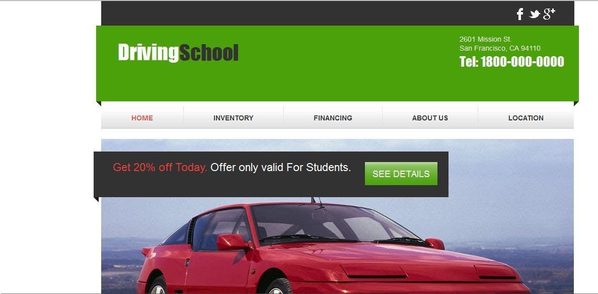 Bài tham dự cuộc thi #                                        6                                      cho                                         Webpage design for Driving School