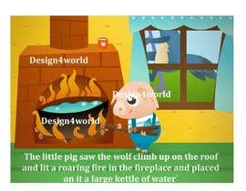 "Nro 11 kilpailuun Illustration for one page from the famous story ""Three little pigs"" käyttäjältä design4world"