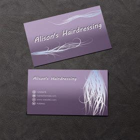 #19 untuk Design some Business Cards for a Small Hairdressing Business oleh rzr9
