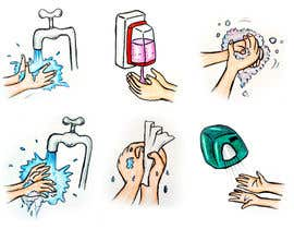 Nro 2 kilpailuun 5 drawings for a strip depicting the washing of hands for children käyttäjältä Chalice777