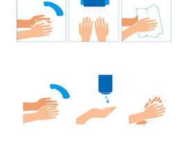 nº 3 pour 5 drawings for a strip depicting the washing of hands for children par danaadnan