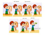 Bài tham dự #8 về Graphic Design cho cuộc thi 5 drawings for a strip depicting the washing of hands for children