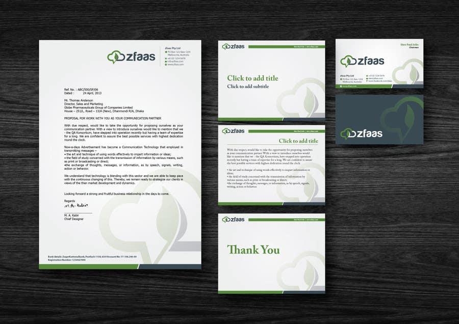 Inscrição nº 10 do Concurso para Design some Business Cards, stationery and a Powerpoint slide template for zfaas Pty Ltd