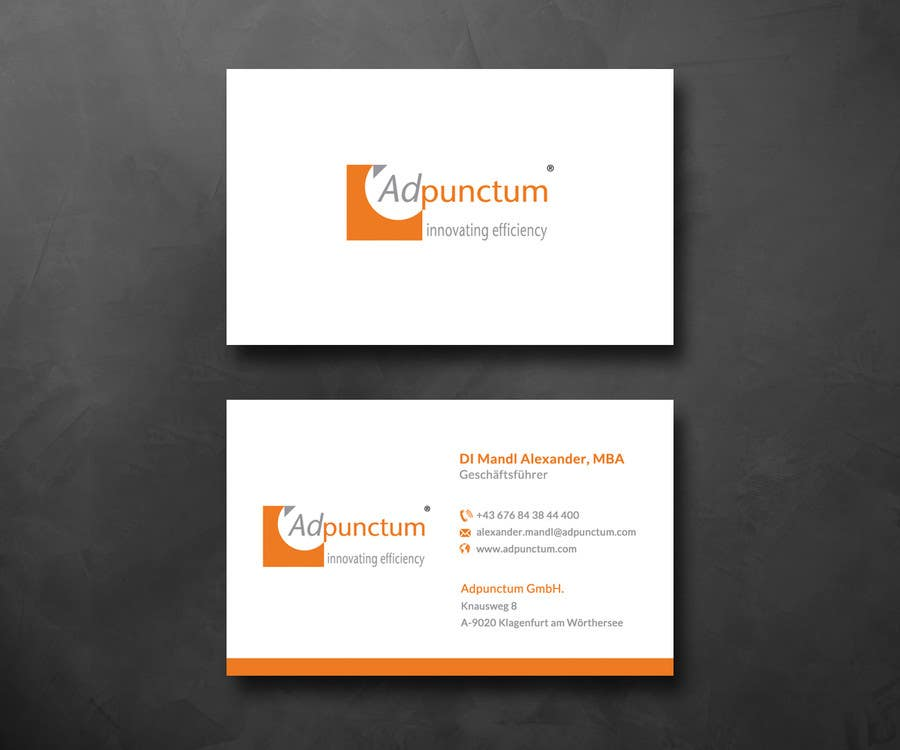 Entry #19 by SarahDar for Design some Business Cards for Adpunctum ...
