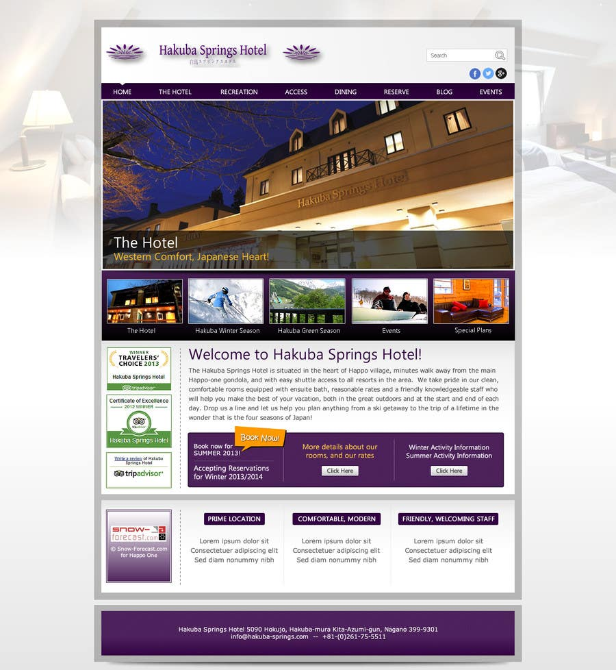 Contest Entry #23 for Hotel website design template
