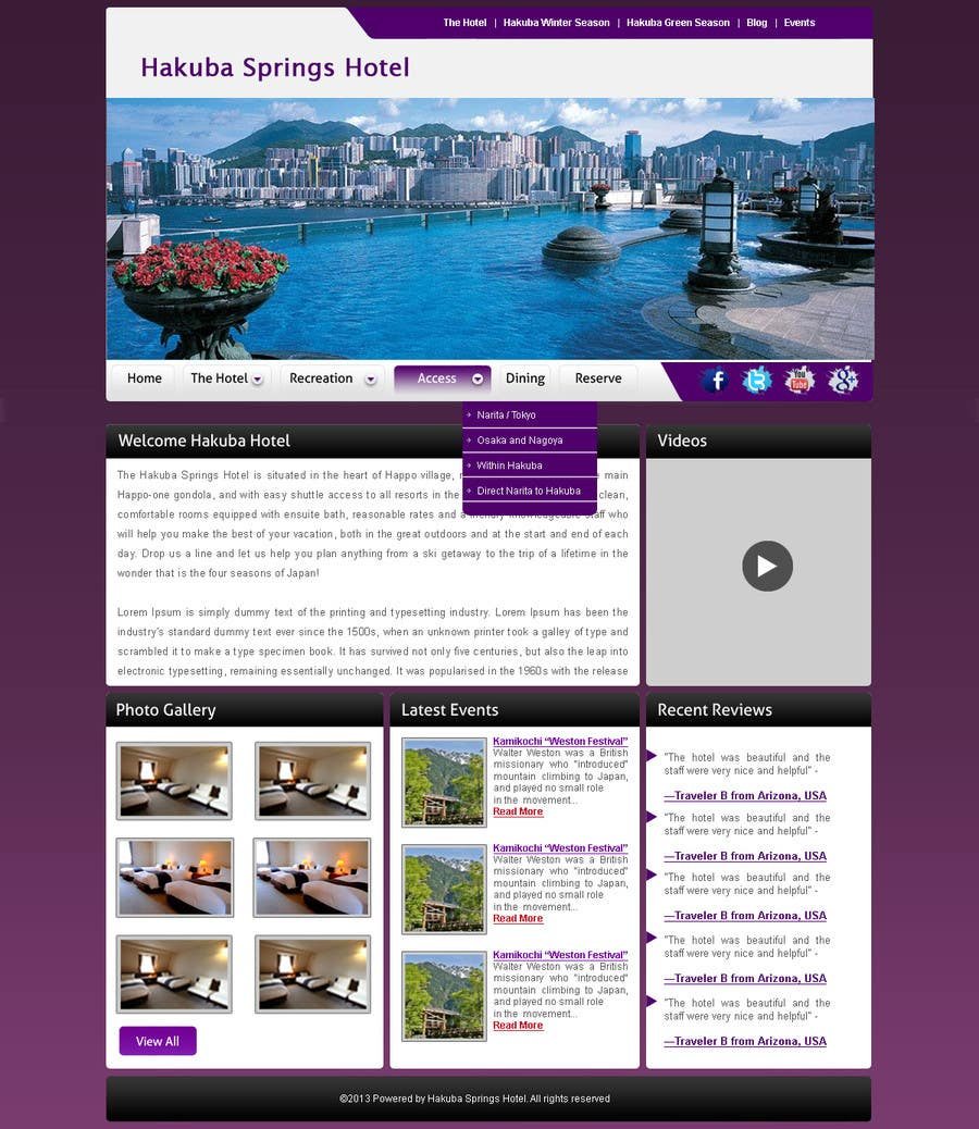 Contest Entry #24 for Hotel website design template