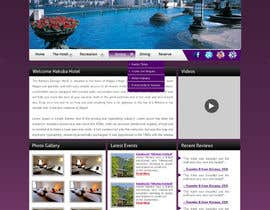 nº 24 pour Hotel website design template par gravitygraphics7