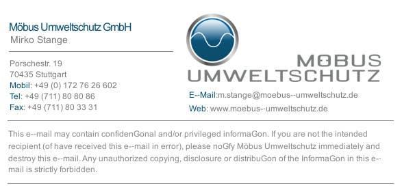 Penyertaan Peraduan #24 untuk Make a nice business eMail signature!
