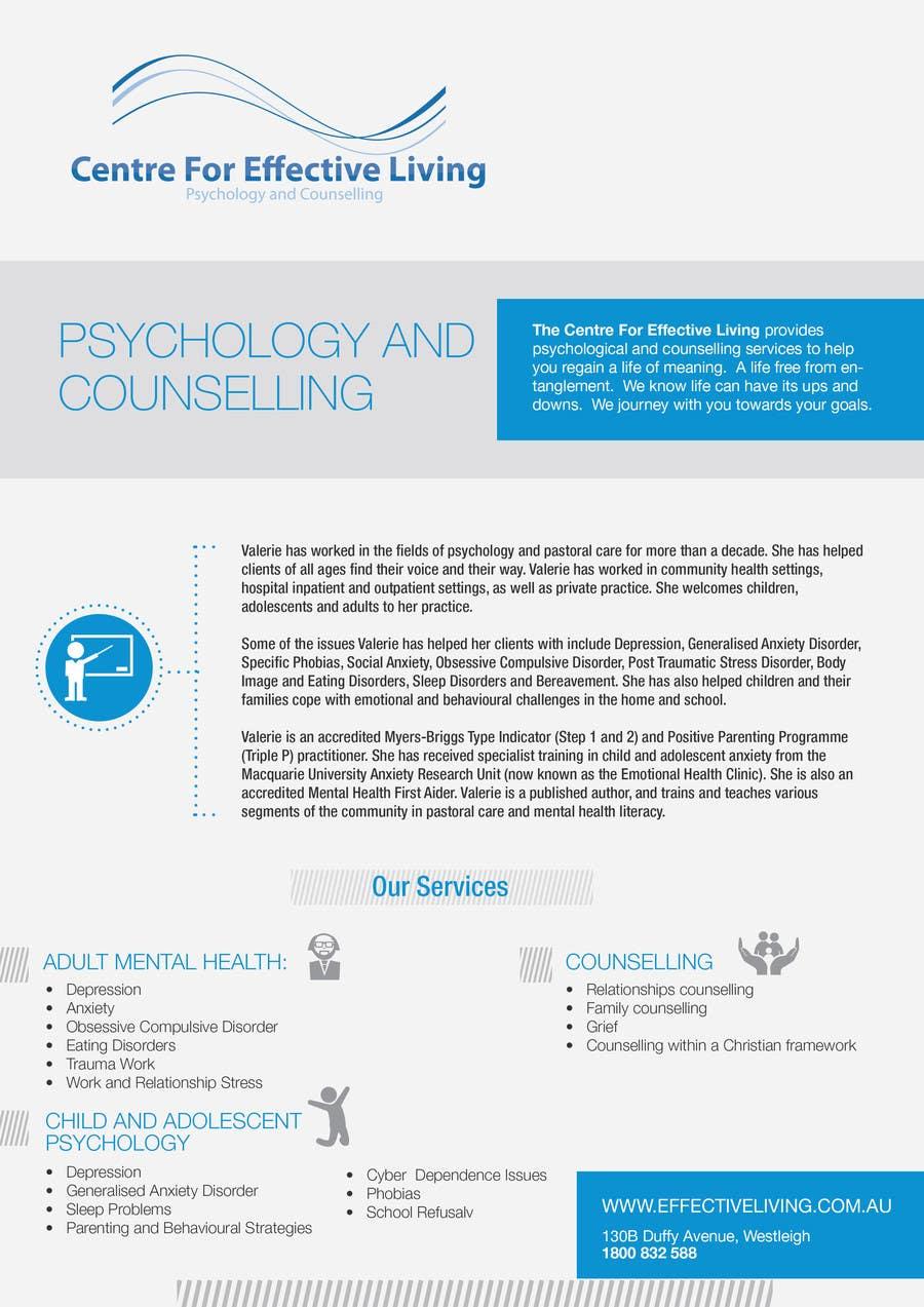 Penyertaan Peraduan #8 untuk Design a Flyer for Psychology service