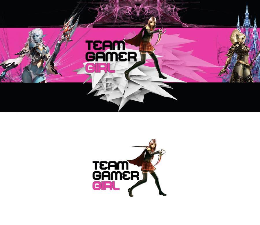 Konkurrenceindlæg #27 for Design a Logo and a Banner for the Website of a Gamer Girl Model Agency
