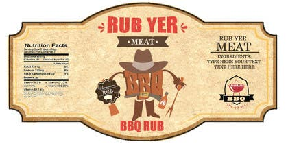 #23 untuk Create Print and Packaging Designs for BBQ Rub Labels oleh RainMQ
