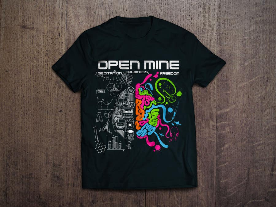 Bài tham dự cuộc thi #48 cho Design a T-Shirt related to the Keywords: Meditation, Calmness, Freedom, Open Mindedness