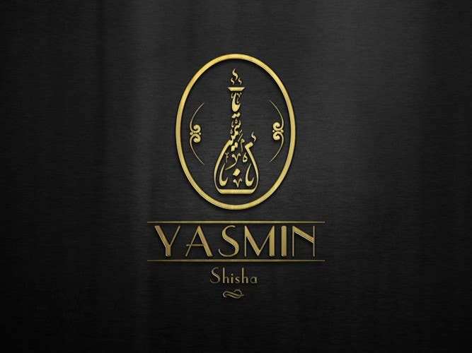 Design a badge style logo for a shisha hookah company for Expensive wallpaper companies