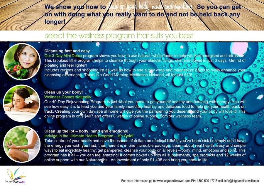 Bài tham dự cuộc thi #                                        4                                      cho                                         Design a Flyer for our wellness programs