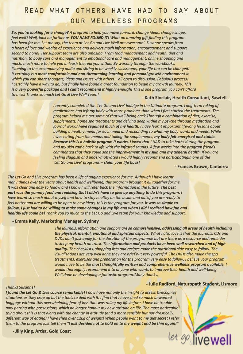 Bài tham dự cuộc thi #                                        10                                      cho                                         Design a Flyer for our wellness programs