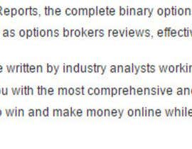 #4 untuk Write a Report for binary options oleh newfreelancer15