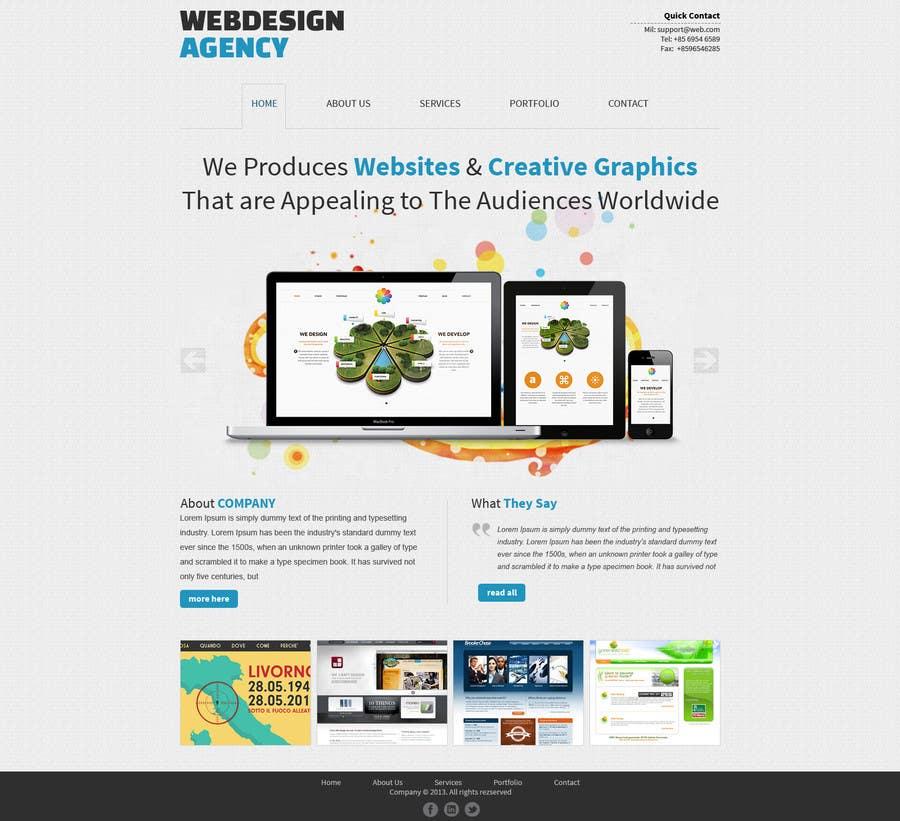Penyertaan Peraduan #14 untuk Design a Website Mockup for a Web-Design Agency