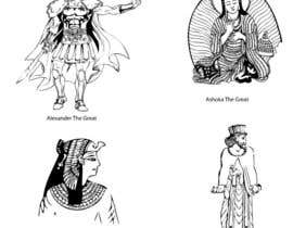 #109 cho Illustrate Some Historic Characters in Line art style! bởi salman00