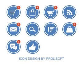 ProliSoft tarafından Design 8 simple and clean icons for web - flat style için no 4
