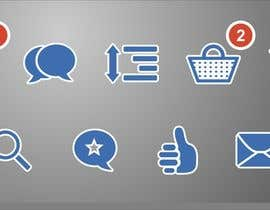 ApexDesignsInc tarafından Design 8 simple and clean icons for web - flat style için no 13