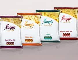#48 untuk Print & Packaging Design for Snacks and logo for Ñaquis Snacks oleh Med7008