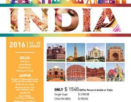 #7 for India Tour Flyer (regular A4 size) by pearl1803