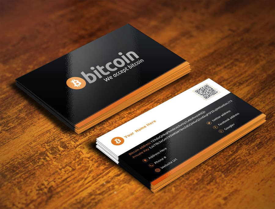 business card font size