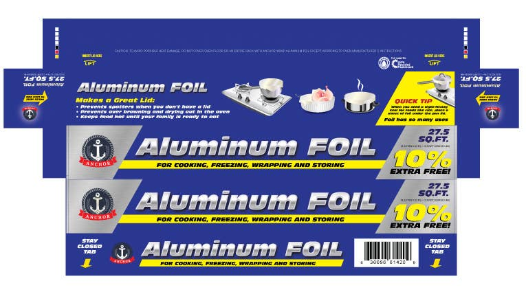 Bài tham dự cuộc thi #8 cho Create Print and Packaging Designs for ALUMINUM FOIL PACKAGE