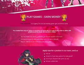 #16 untuk Design a 1 page website with videogaming and gamer girl theme in Wordpress oleh SHRIHITECH