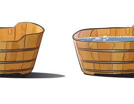 nhatlink12 tarafından Illustrate a Wooden Half-Tub, with Water & Bubbles için no 1