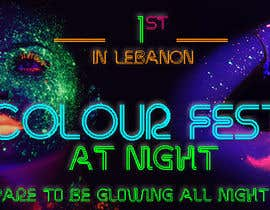 #61 untuk Design eines Banners for colour festival night edition oleh adidoank123