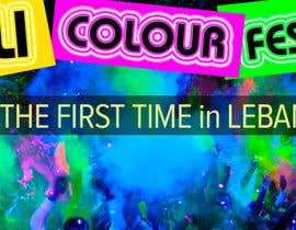 #71 untuk Design eines Banners for colour festival night edition oleh RomanTupolev