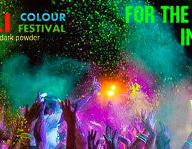 #75 untuk Design eines Banners for colour festival night edition oleh RomanTupolev