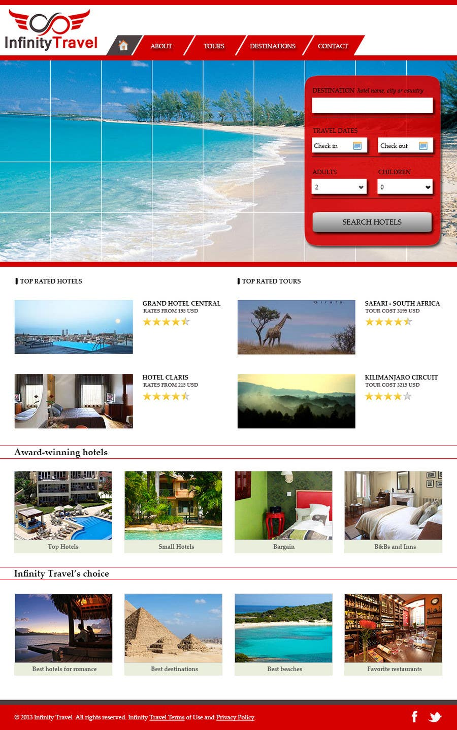 #9 for Design a Website Mockup for Tourist Agency by bojanweb