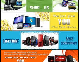 #7 untuk Design a Banner for a small electronics online shop oleh atomixvw