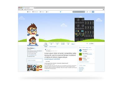 #4 untuk Design a Facebook and twitter landing pages for 1xhosting.com oleh virtualinkteam