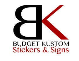 #1 untuk Design a Logo for Budget Kustom Stickers & Signs oleh CCCilliers