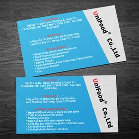 #7 untuk Design some Business Cards for Unifood oleh rzr9