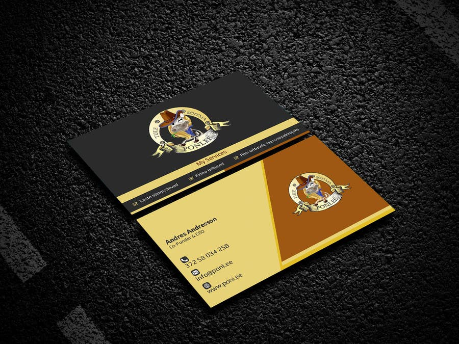 Contest Entry #48 for Design Business Card for Poni.ee