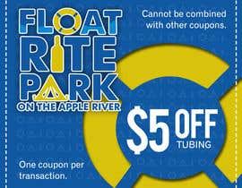 #23 untuk Design Simple $5 off Dropcard Coupon for Float Rite Park oleh Mondalstudio
