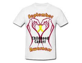"#11 untuk Design a T-Shirt For "" September Childhood Cancer Awareness Month "" oleh LimeByDesign"