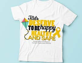 "#22 untuk Design a T-Shirt For "" September Childhood Cancer Awareness Month "" oleh Christina850"