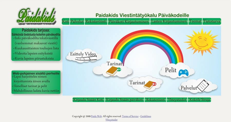 Конкурсная заявка №13 для Graphic Redesign: Front page of web app for nursery schools (PSD)
