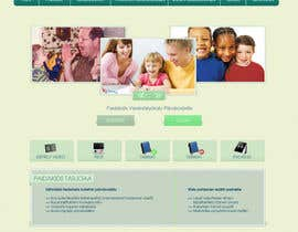 #24 for Graphic Redesign: Front page of web app for nursery schools (PSD) by lataraaa