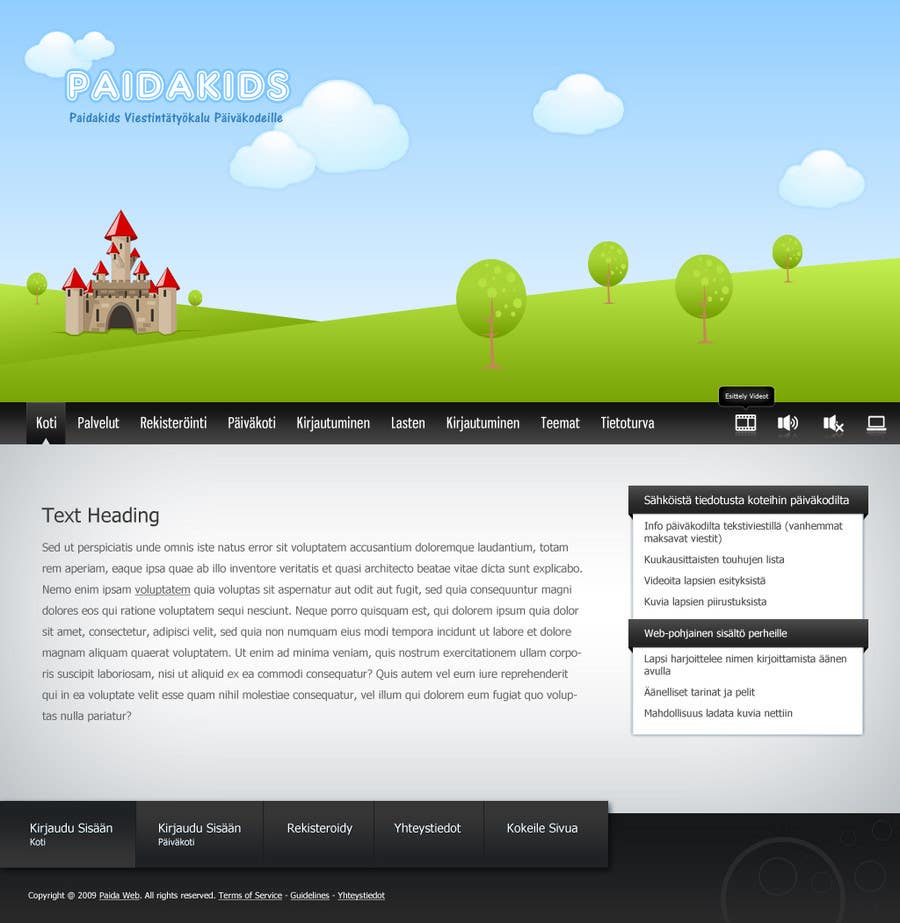 Contest Entry #11 for Graphic Redesign: Front page of web app for nursery schools (PSD)